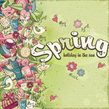 Postcard dedicated to spring and mood Royalty Free Stock Photo