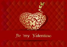 Postcard desig for Valentines Day Royalty Free Stock Photography