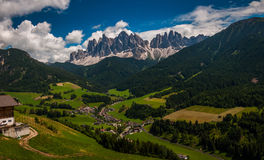 Postcard from Dolomites Stock Images