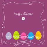 Postcard on Easter royalty free stock photos