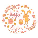 Postcard with Easter Royalty Free Stock Photos