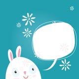 Postcard Easter Bunny Stock Photo