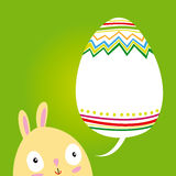 Postcard Easter Bunny Royalty Free Stock Images