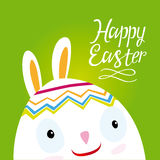 Postcard Easter Bunny Royalty Free Stock Photo