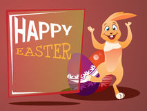Postcard with an Easter bunny Stock Image
