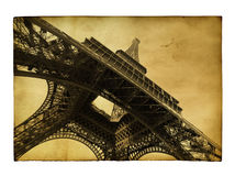 Postcard with Eiffel towe Stock Image
