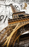 Postcard of Eiffel Tower. Old postcard of Eiffel Tower Stock Photography