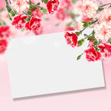 Postcard with elegant  flowers and empty  place for your text Stock Image