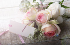 Postcard with elegant  flowers Stock Images
