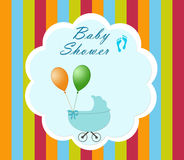 Postcard for the event Baby Shower Stock Image