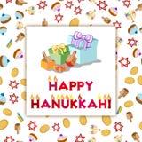 Postcard for Festival of Lights Hanukkah Stock Images