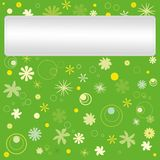 Postcard with floral pattern. Stock Photography