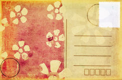 Postcard with folral pattern Royalty Free Stock Photography