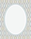 Postcard, frame, gray, rhombuses, geometry, color, flat. Royalty Free Stock Photo