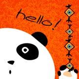 Postcard with funny panda. Stock Image