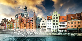 Postcard with Gdansk Stock Photos