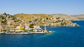 Postcard from Gialos town Stock Image