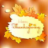 Postcard for greeting with happy Thanksgiving Royalty Free Stock Photos