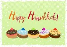 Postcard for Festival of Lights Hanukkah. Postcard for greetings with Festival of Lights, Feast of Dedication Hanukkah. Grunge hand written greeting with jewish Royalty Free Stock Images