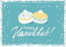 Postcard for Festival of Lights Hanukkah. Postcard for greetings with Festival of Lights, Feast of Dedication Hanukkah. Grunge hand written greeting with jewish Royalty Free Stock Photo
