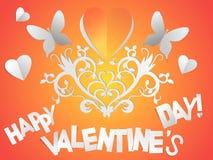 Postcard greetings happy Valentines Stock Image