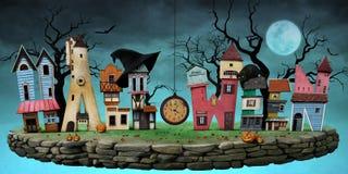 Postcard Halloween Stock Images