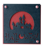 Postcard on Halloween Stock Photos