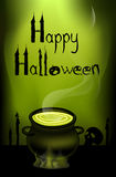 Postcard on Halloween. Royalty Free Stock Photography