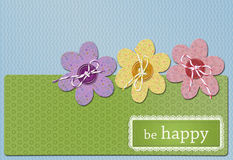 Postcard happiness Royalty Free Stock Photo