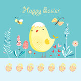 Postcard Happy Easter Royalty Free Stock Image