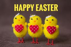 Postcard Happy Easter. Congratulations on a religious holiday. Orthodox holiday royalty free stock photo