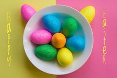 Postcard Happy Easter. Congratulations on a religious holiday. Orthodox holiday stock photos