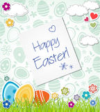 Postcard Happy Easter. Easter eggs Royalty Free Stock Image
