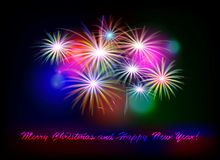Postcard Happy New Year 2018 Royalty Free Stock Photography