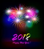 Postcard Happy New Year 2018 Royalty Free Stock Image