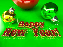 Postcard - Happy New Year 2016. With red text Royalty Free Stock Image