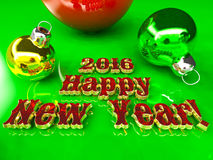 Postcard - Happy New Year 2016. With red text Royalty Free Stock Images