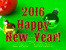 Postcard - Happy New Year 2016. With red text Royalty Free Stock Photo