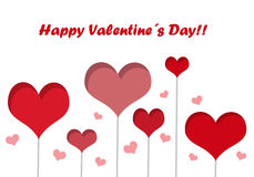 Postcard for Happy Valentine Day Royalty Free Stock Image