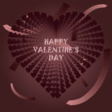 Postcard Happy Valentine`s Day Royalty Free Stock Images