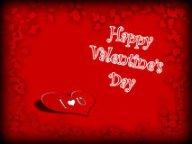 Postcard Happy Valentines Day Royalty Free Stock Photography