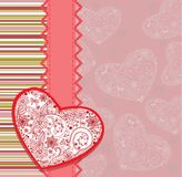 Postcard with heart Stock Photo