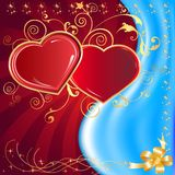 Postcard heart, holiday Royalty Free Stock Image