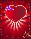 Postcard heart, holiday Stock Image
