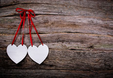 Postcard with hearts Royalty Free Stock Images