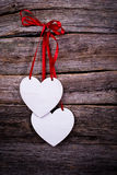 Postcard with hearts Royalty Free Stock Photography