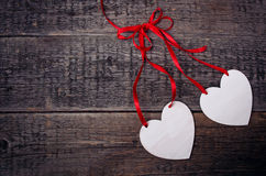 Postcard with hearts Stock Photos