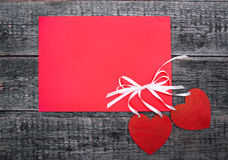 Postcard with hearts Royalty Free Stock Photo
