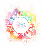 Postcard for the holiday of Holi in India Stock Image