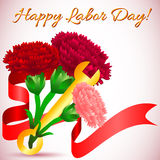 Postcard for holiday of Spring and Labor. Mayday Royalty Free Stock Images